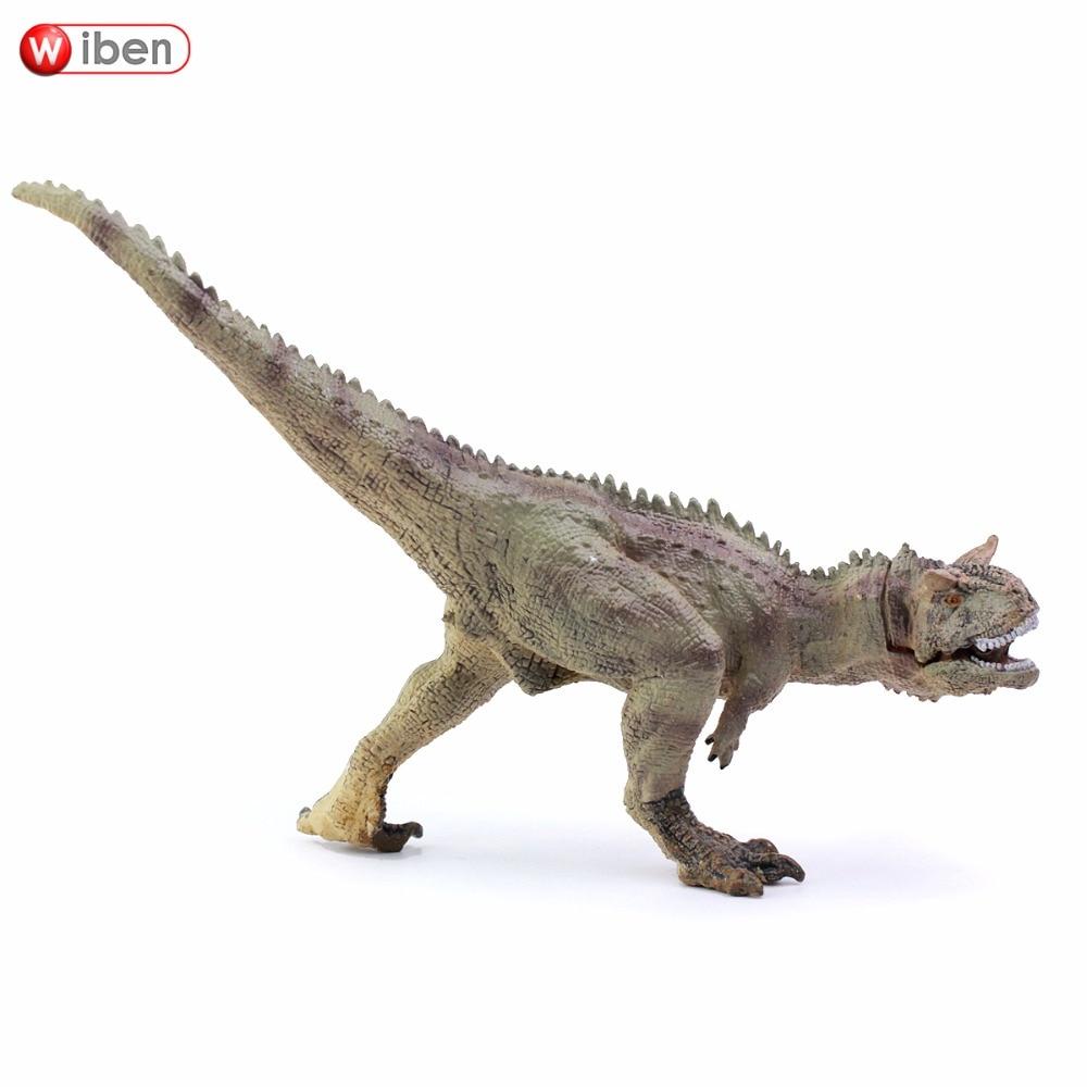 Wiben Jurassic Carnotaurus Dinosaur Leksaker Åtgärd Figur Djurmodell Samling Lärande och pedagogiska barn leksaksgåvor