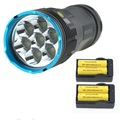 10000 люмен 7T6 тактический светодиодный фонарик Фонарь 7xcree XM-L T6 светодиодная перезаряжаемая лампа linternas + аккумулятор 4x18650 + 2х зарядное устройс...