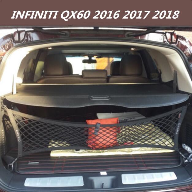Jioyng High Quality Car Rear Trunk Security Shield Cargo Cover For 16 18 Infiniti Qx60 2016 2017 2018 Black Beige