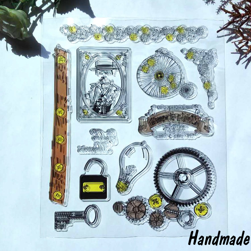 Memories Transparent Clear Silicone Stamp/Seal for DIY Scrapbooking/Photo Album Decorative Rubber Standard Stamp sheets lovely bear and star design clear transparent stamp rubber stamp for diy scrapbooking paper card photo album decor rm 037