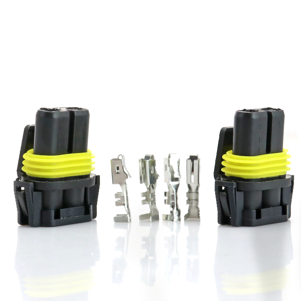 2sets 9005 Hb3 9006 Hb4 H10 Female Adapter Connector W