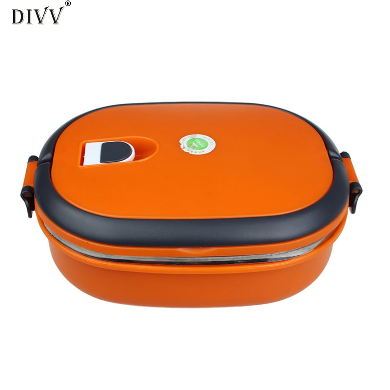DIVV Picnic Lunch Box Travel Students Office Workers Single Stainless Steel Insulation Lunch Bento Box Food Container Bag