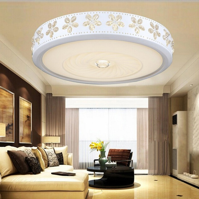 Excelvan 38W Round Ceiling Lights with WIFI Music Infinite Dimming Control, 52*10cm LED Ceiling Lamps Suitable for Home Light