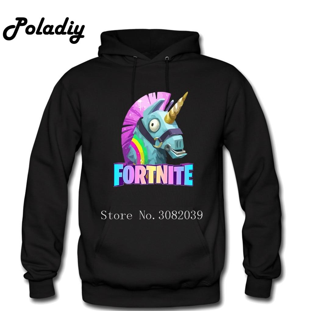 Llama Fortnite Hoodies Men Hooded Pullover Male Female Hood Hoddie Sweatshirts Fortnite Unicorn Dropshipping Hoody