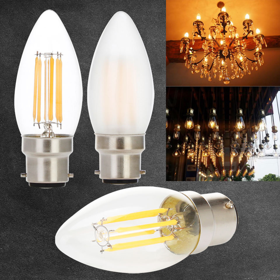 Dimmable Edison Lights bulbs B22 Bayonet 2W 4W 6W LED Filament Bulb Warm White 2700K Cold White 6000K led bulb 220V 240V 230V росмэн книга с крупными буквами три поросенка