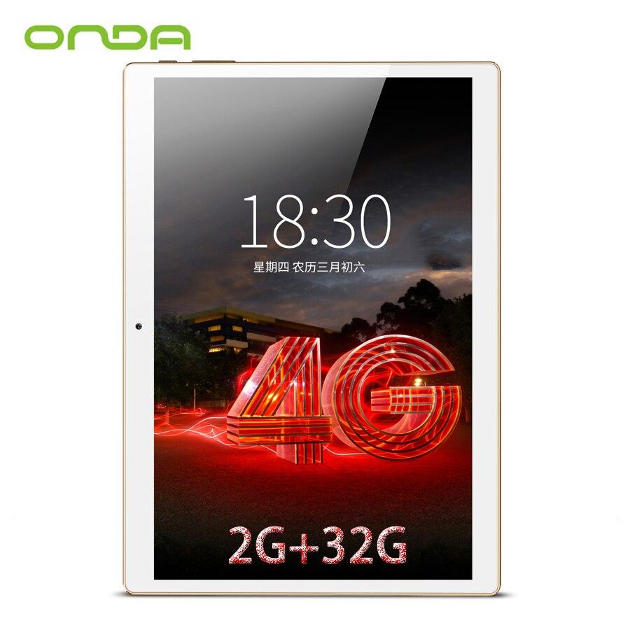 bilder für Onda V10 4G Anruf Tablet PC 10,1 ''IPS 1920*1200 MTK6753 Octa-core Android 7.0 Dual-sim-karte GPS 2 GB Ram 32 GB Rom