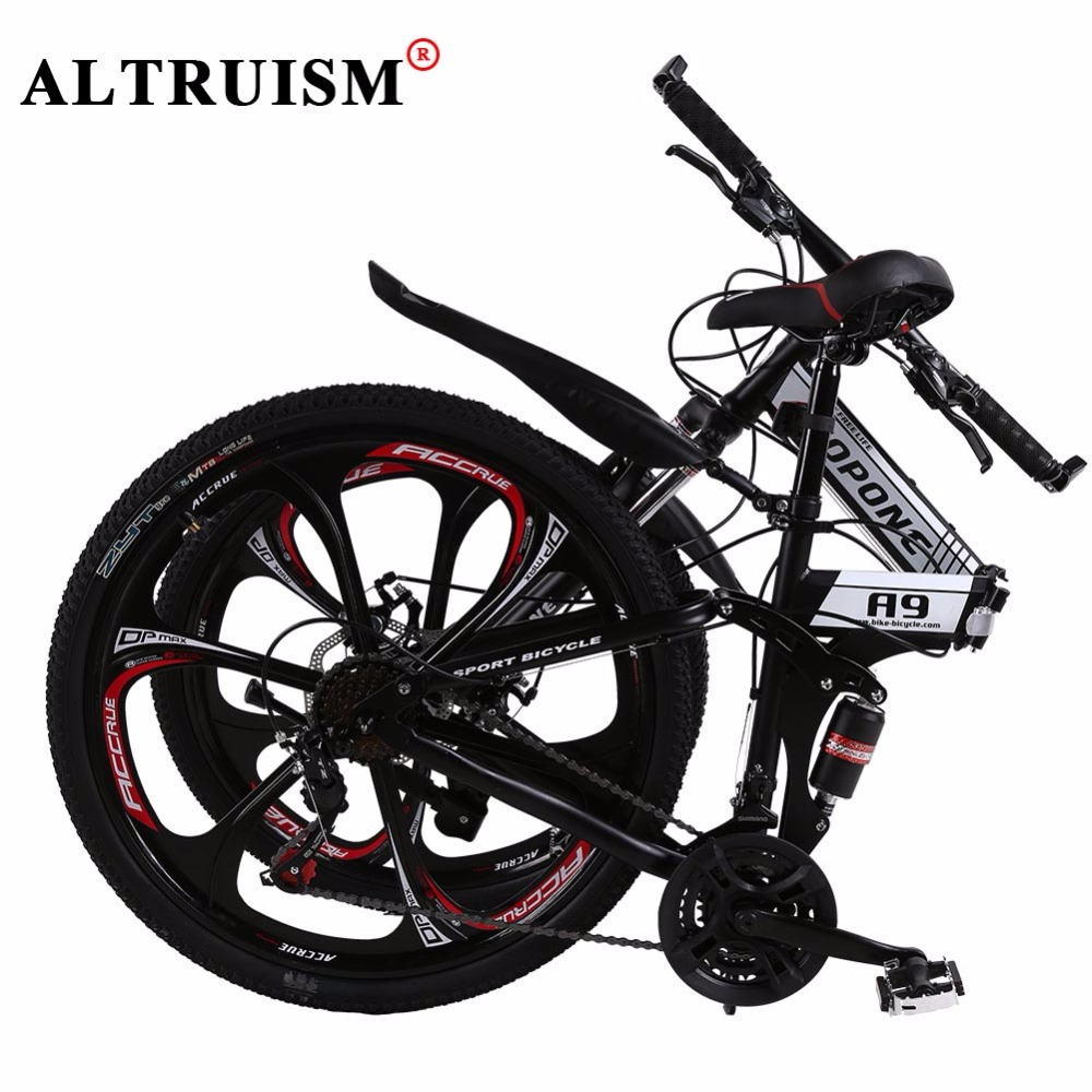 Altruism A9 Mountain Bicycles 26 Inch Steel Black Bike 24 Speed