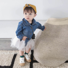 2019 Spring New Girls Fashion Denim Shirt &Dress SET Girl Set  2-piece Kids Dresses Baby Clothes