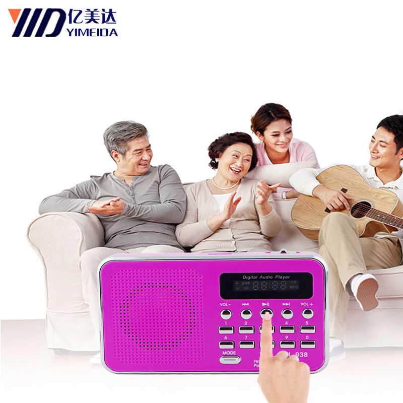 L-938 Digitale Fm Radio Draagbare Fm Dab Radio Radyo Media Speaker MP3 Muziekspeler Ondersteuning Tf Card Usb Drive Met led Display