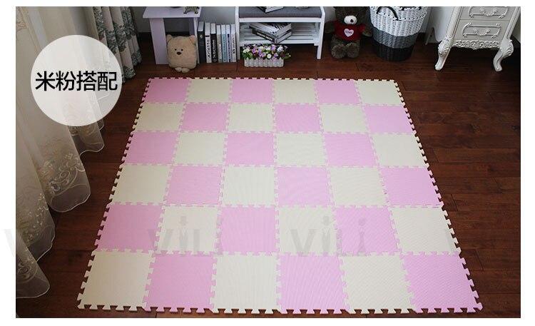 JCC 6pc/set Baby EVA Foam Puzzle Play Mat /kids Rugs Toys carpet for childrens Interlocking Exercis Floor pad Tiles,Each:32X32cm