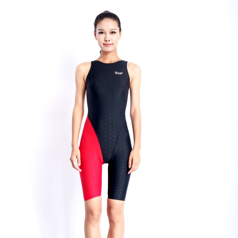 HXBY swimwear girls racing swimsuits sharkskin professional swimsuits knee one piece competition swim suits one piece 5