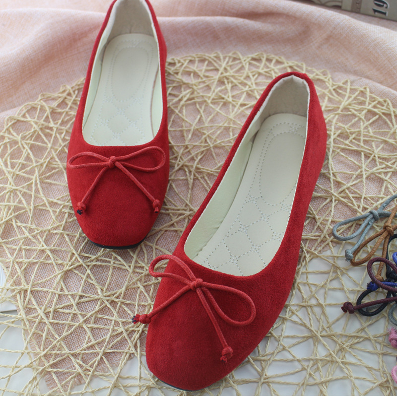 Big Size Women Flats Candy Color Shoes Woman Loafers Square Toe Butterfly-knot Spring Flat Casual Shoes Women Plus Size 35-42 new flock high big size 11 12 women shoes wedges pointed toe woman ladies butterfly knot casual spring autumn sweet single shoes
