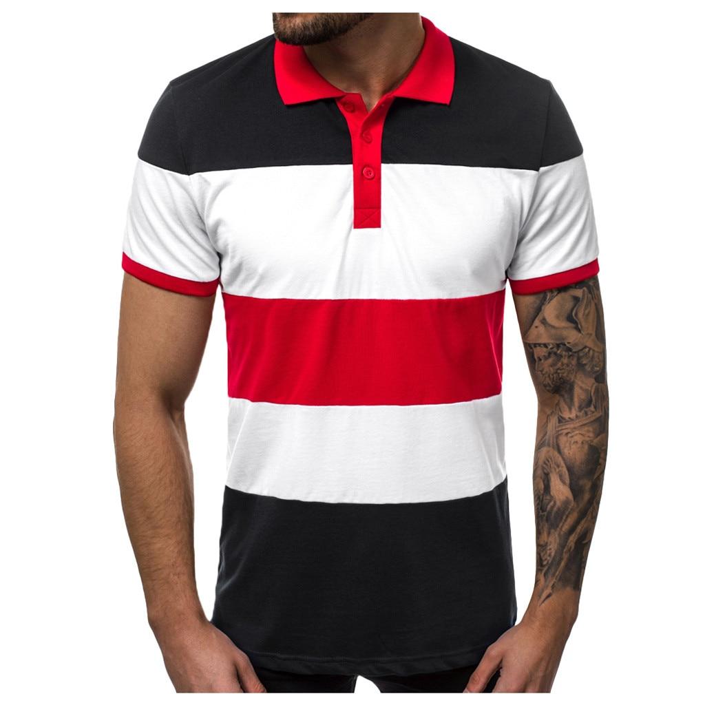 Fashion 2019 new Summer Cotton   Polo   Shirt Men Short Sleeve Floral Gradient Casual Mens Shirts Camisa   Polo   Mens   Polos