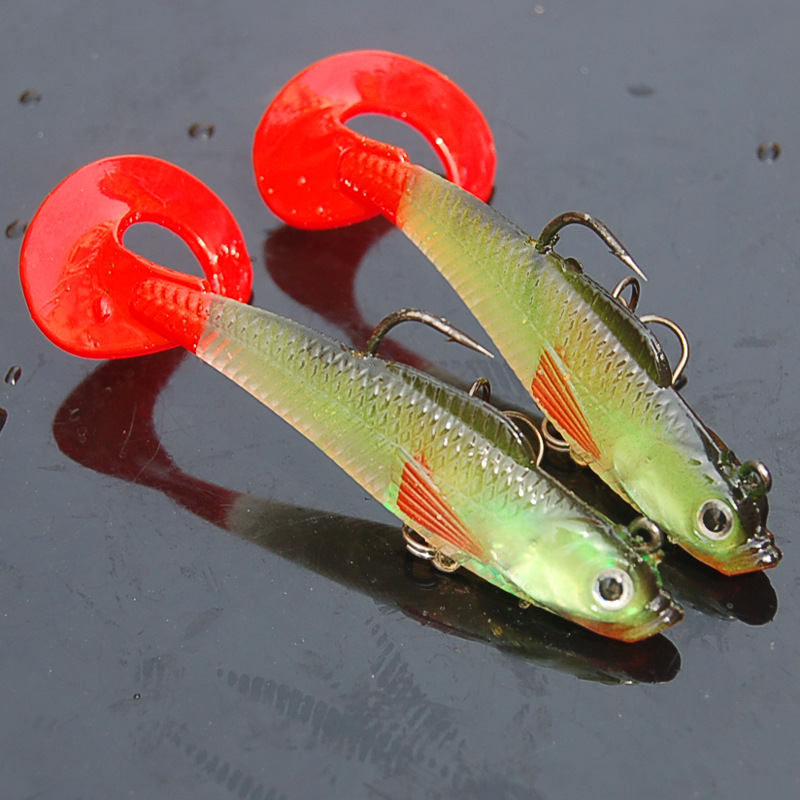 Image 3 - 2017 New 1Pcs Soft Fishing Lure Lead Head Hook Jig Fish Single Tail Bait Pesca Isca Artificial Fishing Tackle Wobblers 90mm 9.6g-in Fishing Lures from Sports & Entertainment