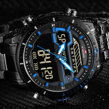 relojes hombre NAVIFORCE Mens Watches Top Luxury Brand Men Sport Watchs Men's Quartz LED Digital Clock Waterproof Military Watch