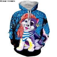 NEW Autumn Hoodies Casual Unicorn Sweatshirt Animal 3D Print cat dog Hip Hop Pullover Men Coat Street Wear Sweatshirt Streetwear