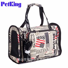 Vintage Pet cat small dog Travel luxury pu leather Carrier bag outdoor portable dog Chihuahua carry tote shopping bag handbag