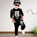 new 2017 spring autumn kids child suits baby teenage boys clothes set child suit sport character t shirts and pants sets clothes