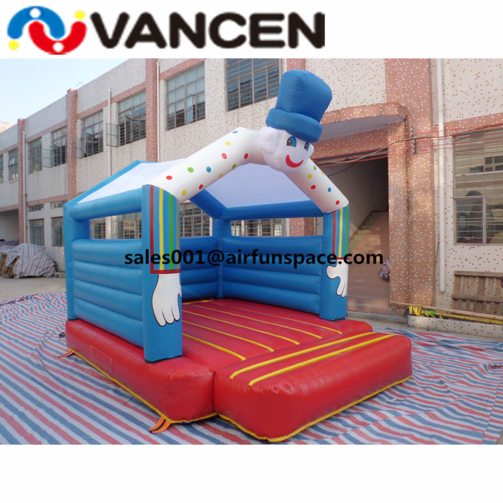 цена на Garden used mini 3*5m inflatable bouncer clown design inflatable tramspoline inflatable bouncy jumping castle for kids