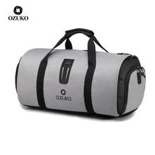 Ozuko多機能大容量紳士防水ダッフルバッグ旅行のスーツ収納手荷物バッグ靴ポーチで