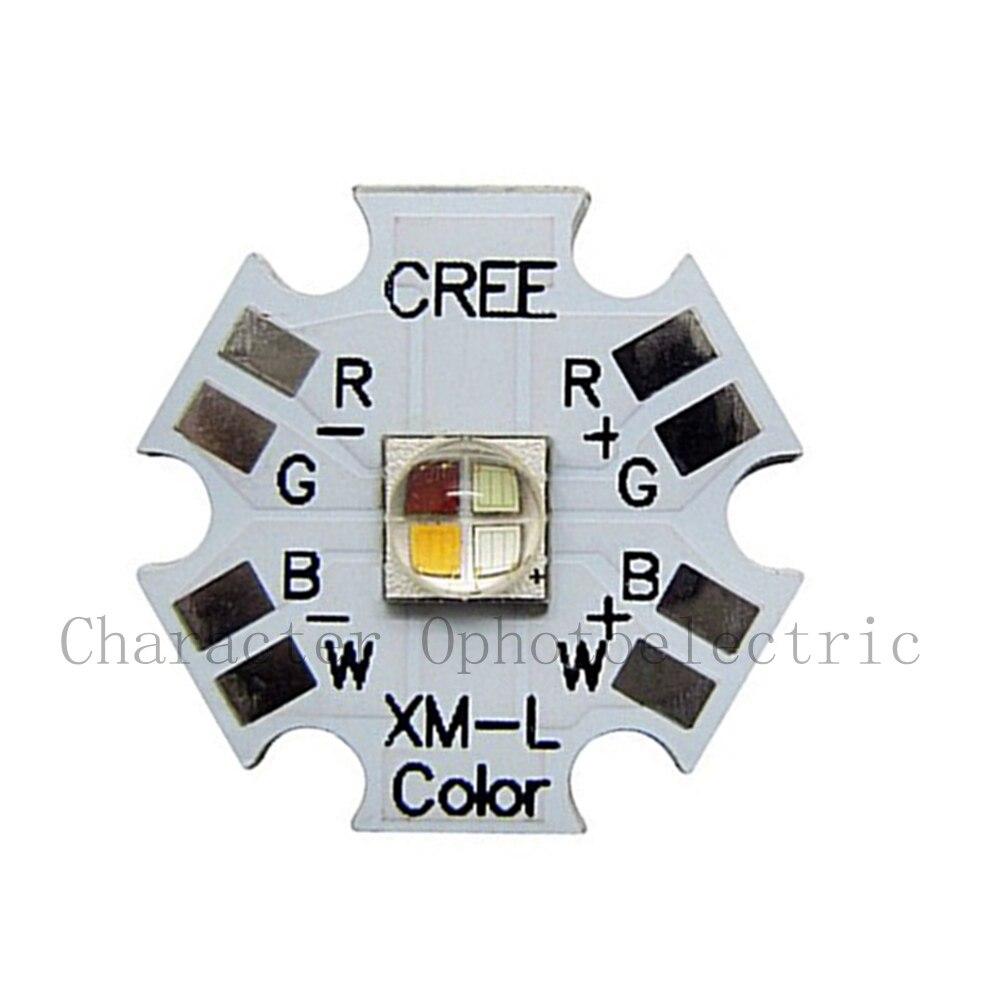Cree XLamp XM-L XML RGBW RGB White or RGB Warm White Color High Power LED Emitter 4-Chip 20mm Star PCB Board cree xlamp 100w xm l xml t6 6000k white warm white 3500k dc 30v 36v high power led lighting for diy house street illumination