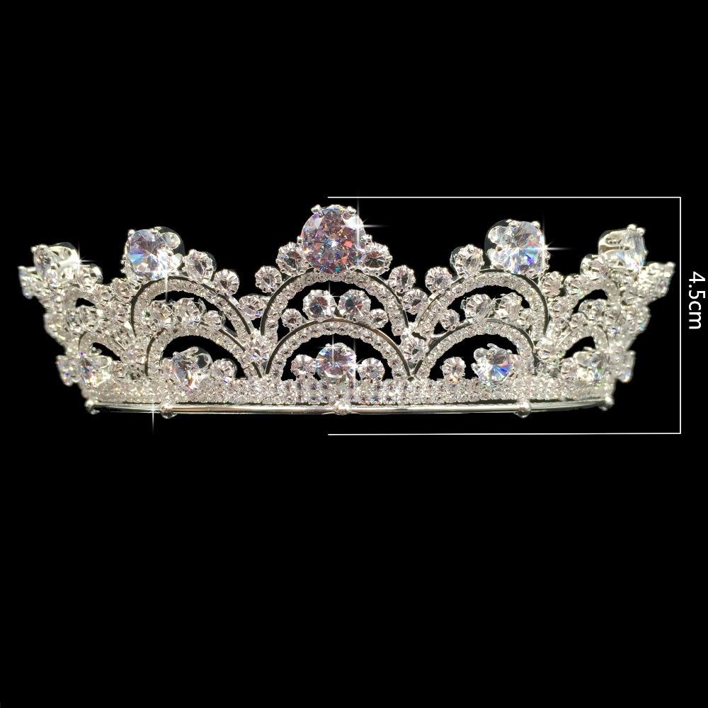 Image 4 - Hadiyana New Arrival Sparkling Zirconia Couronne De Mariage  Fashion Crystal Wedding Hair Accessories Crown for Women BC3435tiara  crowntiara crown for womencrystal hair accessories
