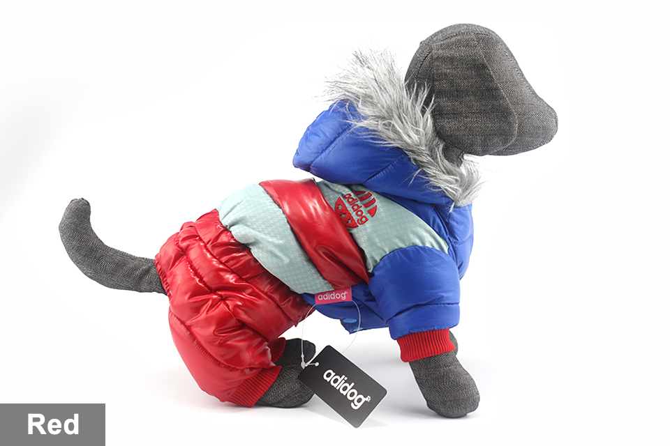 adidog New Winter Pet dog Clothes for Small Medium Dog Pet clothing Coat hoodies Waterproof Super Warm Jacket Snow chihuahua for Winter 413