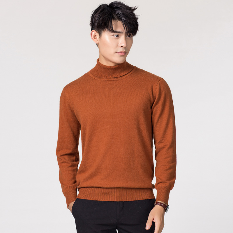 Man Sweaters Cashmere and Wool Knitted Jumpers 11Colors Hot Sale Winter Fashion Turtleneck Pullover Men Woolen Clothes Male TopsPullovers   -