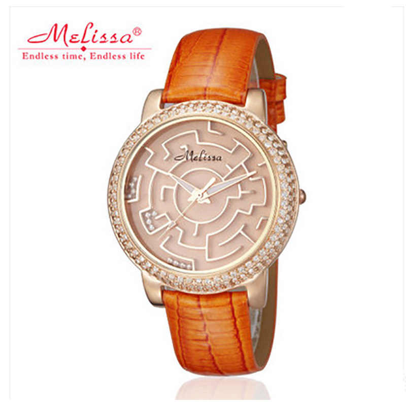 0ee5965d5 Melissa Original Luxury Brand Women Crystals Watches Personalized Maze Watch  Lovely Moving Balls Wristwatch Leather Quartz