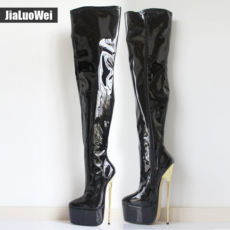 image Heel 30 cm platform 20 cm patent leather Part 3