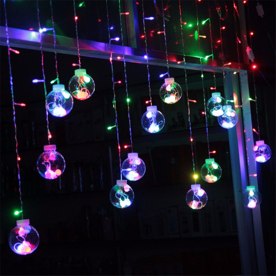3M Juletræ Dekorativt Curtain Garlands pære Fairy String Light - Ferie belysning - Foto 2