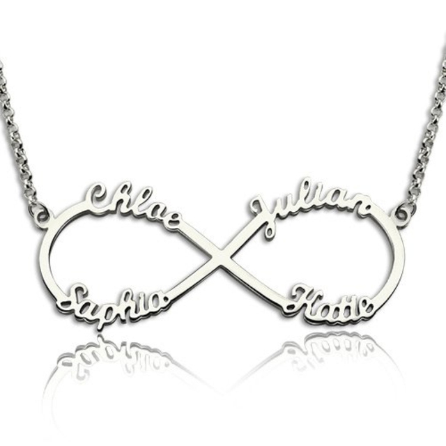Solid 925 Sterling Silver Personalised Name Necklace B35WZNN