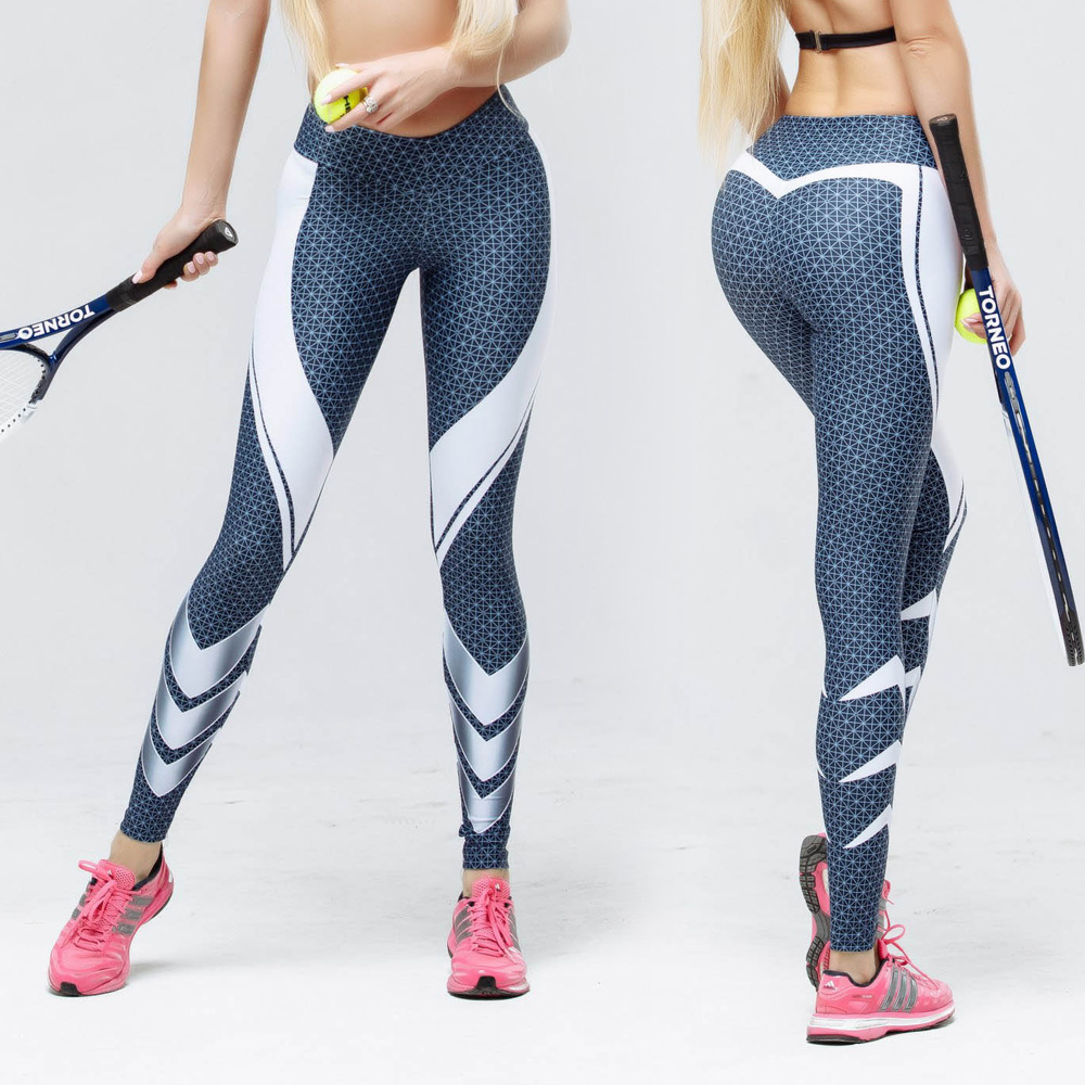 Zmvkgsoa Printed Women Sportswear Dots Line Fitness Legging High Waist Legins Silm Fit Workout Clothes Pants Leggings Y2770