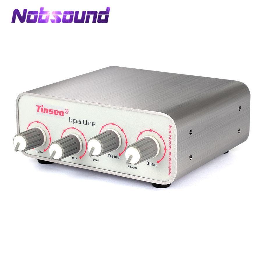 Nobsound Mini Karaoke Preamp Reverb Echo Microphone MIC Sound Record KTV Singing Pre-Amplifier 2017 new nobsound hifi mini microphone preamplifier music sound card recording mic amplifier