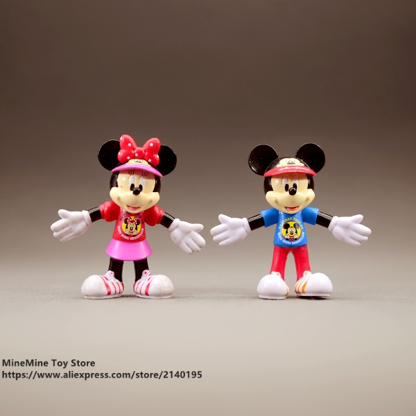 ZXZ Mickey Mouse Minnie exercise 7.5cm Action Figure Posture Anime Decoration Collection Figurine Toy model children giftZXZ Mickey Mouse Minnie exercise 7.5cm Action Figure Posture Anime Decoration Collection Figurine Toy model children gift