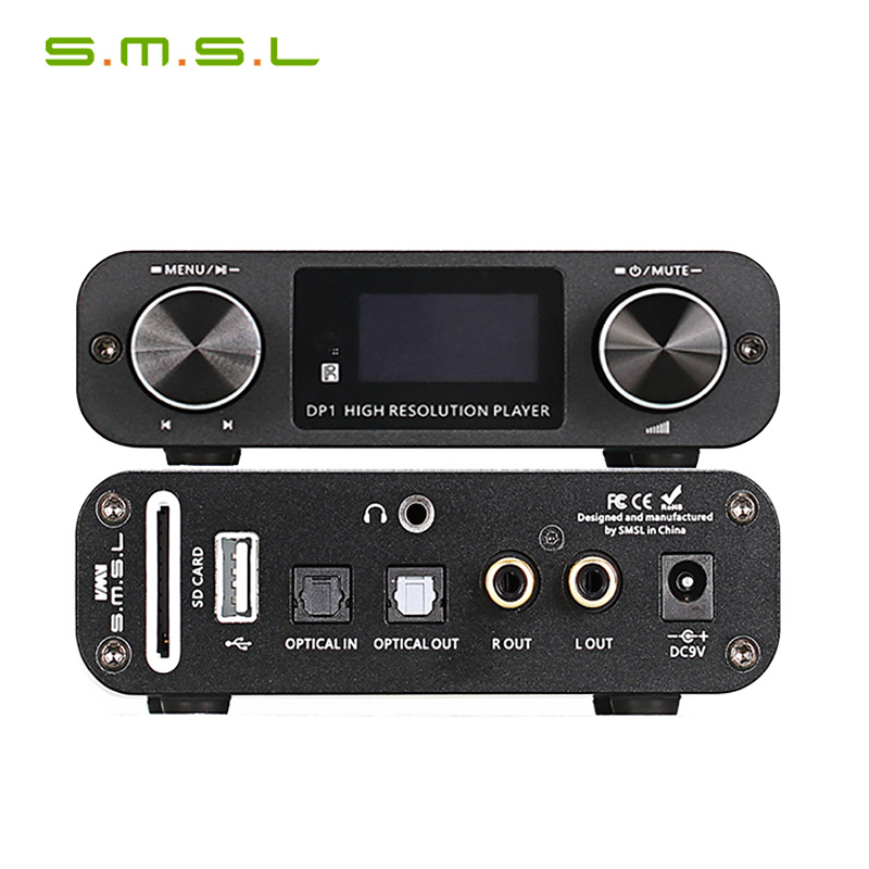 SMSL DP1 HIFI DSD Player/Digital Dial DAC/Digital player audio DAC with built-in Headphone AmplifierSMSL DP1 HIFI DSD Player/Digital Dial DAC/Digital player audio DAC with built-in Headphone Amplifier