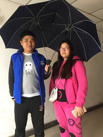 New Design Windproof Two Person Umbrella Large Couples Umbrella Two Head Double Size Rain Protection Gift