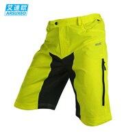 ARSUXEO DH בירידה MX MTB אופני הרי מכנסיים קצרים לנשימה של גברים חיצוני ספורט אופניים רכיבה על אופניים מכנסיים עם 3D מרופד 2 צבעים