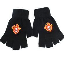 Anime Bleach Ichigo Kurosaki Flame symbol Half finger Plush knit gloves winter warm handschoenen Free shipping $17 5 x5pcslot total usd 87 5 shielding bag replacement battery for motorola symbol 4278 ls4278 free shipping compatible symbol