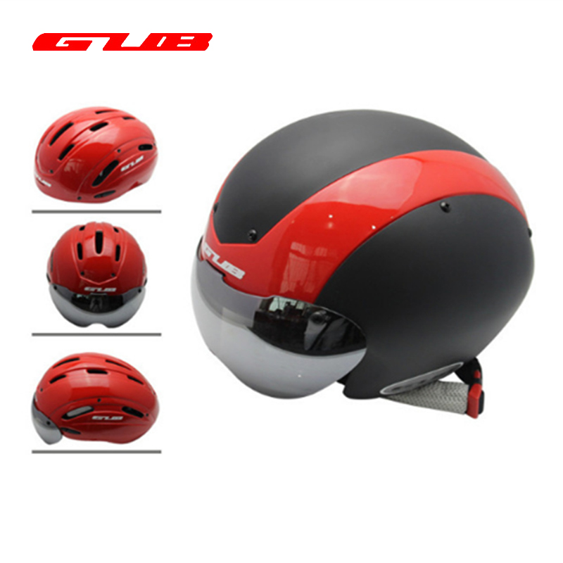 GUB TT Cycling Helmet Track Cycling Road Cycling MTB Road Mountain Road Bike Helmet With UV Visor Accessories Bicycle Helmet gub k90 outdoor bike bicycle cycling epu helmet gray