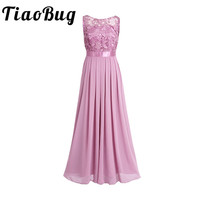 TiaoBug Lace Bridesmaid Dresses Long 2017 New Designer Chiffon Beach Garden Wedding Party Formal Junior Women