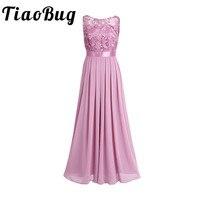 TiaoBug Lace Bridesmaid Dresses Long 2017 New Designer Chiffon Beach Garden Wedding Party Formal Junior Women