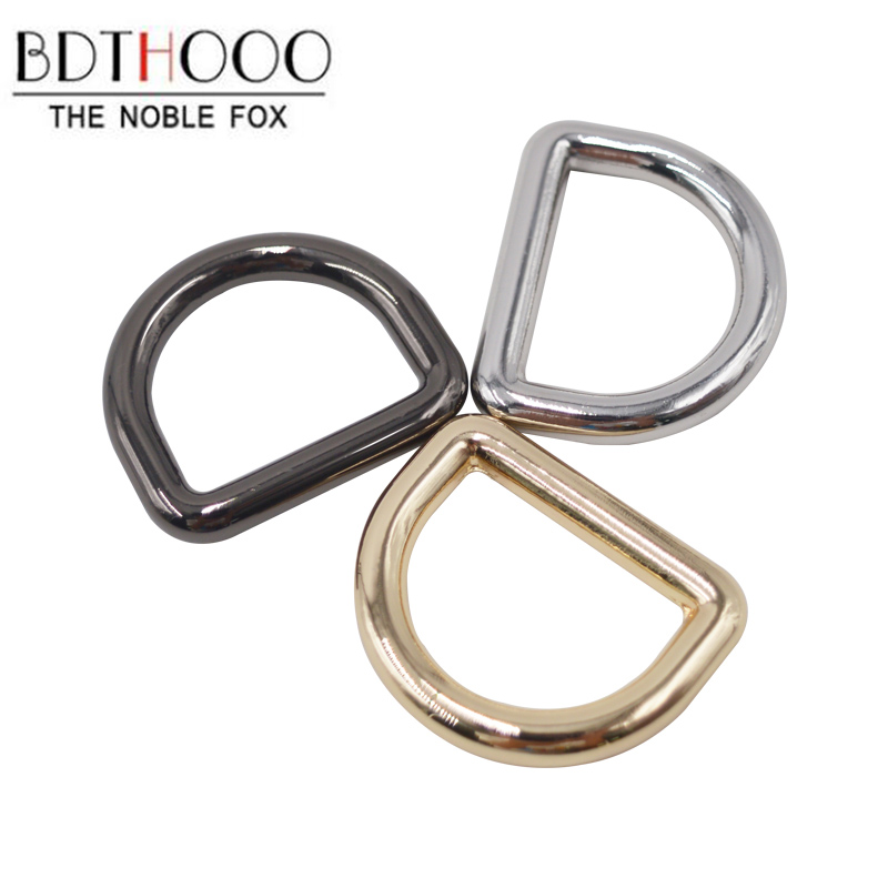 BDTHOOO 10pcs Metal Wire D Buckle D Ring For DIY Handbag Strap Holder Semi-circular Buckle Bags Hardware Accessories Zinc Alloy