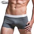 Cintura baixa sexy mens underwear boxers troncos homens boxer de algodão calções Marca Homem Gay Penis Pouch Wonderjock Projetado Quente Masculino boxeador