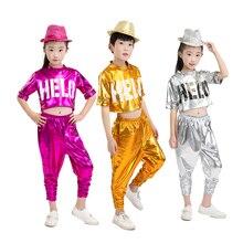 39bf300efd Crianças hiphop Traje de Dança Jazz Desgaste Sequin hop Dança Jazz Crianças  Concursos de Dança Roupas Palco Desempenho