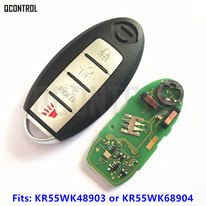 QCONTROL Car Smart Remote Key for NISSAN Teana Altima Maxima for Infiniti G25 G35 G37 Q60 KR55WK48903 KR55WK68904 KR55WK49622 2pcs white led license plate light lamps for nissan 350z 370z gtr infiniti g37 g35