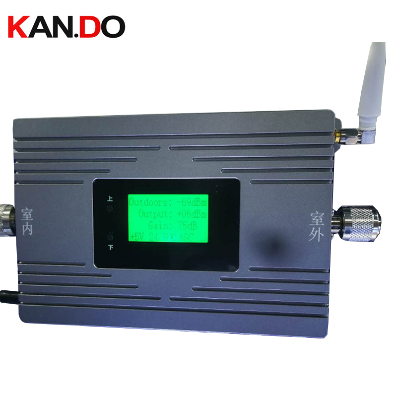 1W 75dBi 27dbm LCD Display 900mhz Repeater GSM 900MHz 2G Voice Repeater Mobile Phone Repeater Signal Booster WIFI APP Control