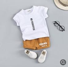 Kids Clothes 2019 Summer Fashion Childrens Short Sleeve Set Letter Print Baby Girls Toddler Boys SY-F192215