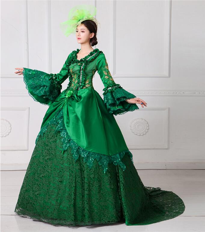 2017 European Court Dress 18th Century Queen Victorian Dresses Ball Gowns For Ladies Halloween Cosplay Costume S-5XL