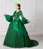 2017 European Court Dress 18th Century Queen Victorian Dresses Ball Gowns For Ladies Halloween Cosplay Costume